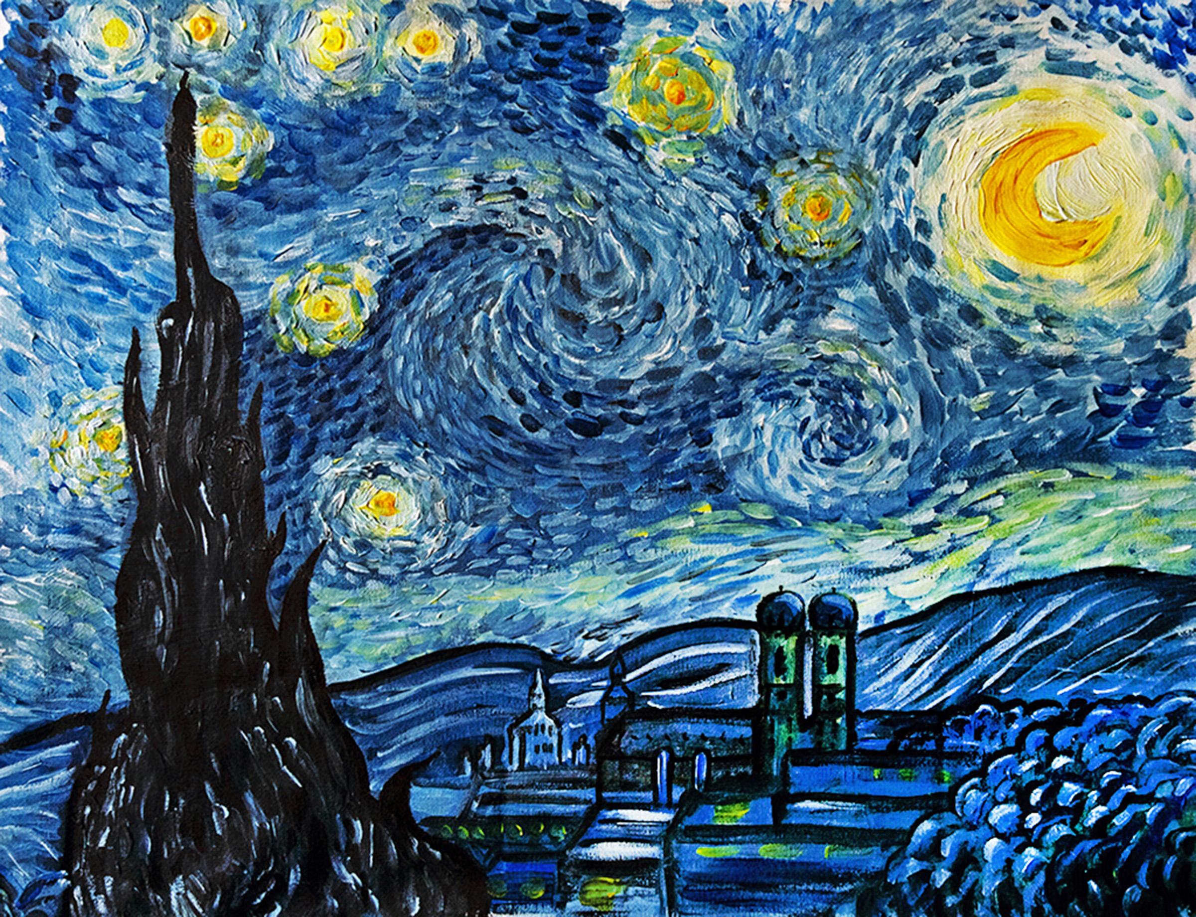 Vincent van Gogh's Sternennacht in München