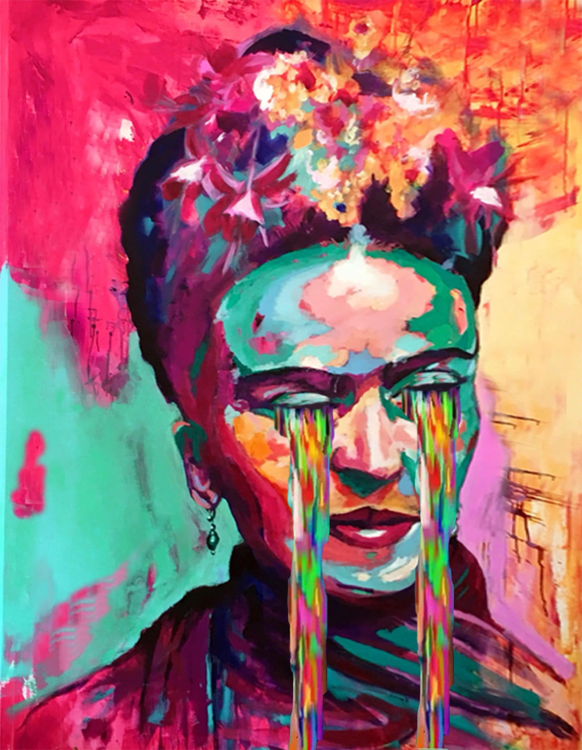 Crying Frida Kahlo