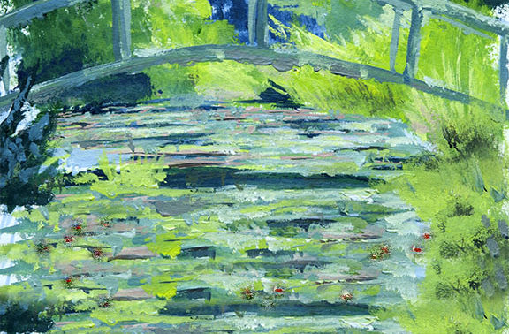 Paint like Monet: Japán híd