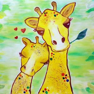 Anya-gyermek páros festés: Lula, a kicsi zsiráf