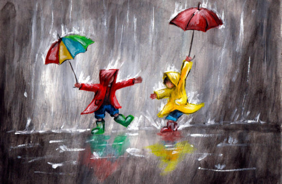 Játék az esőben
