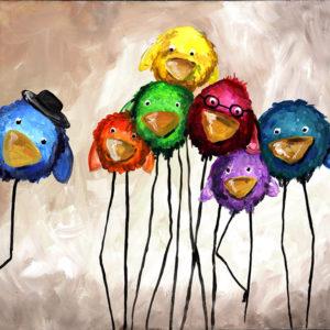 Anya-gyermek páros festés: Őrült ökörszemek