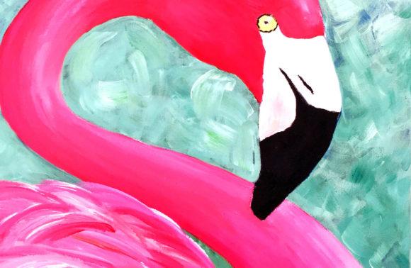 Szépséges flamingó