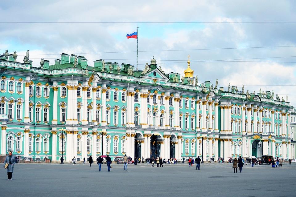 Az orosz múzeum épülete.