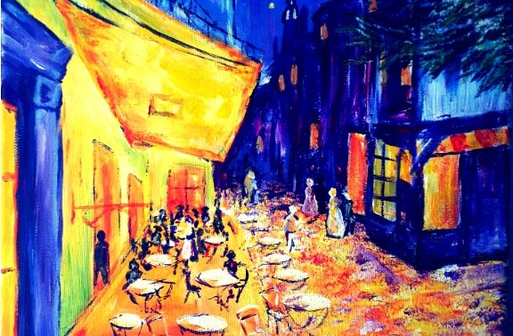 Paint like Van Gogh: Café de Paris
