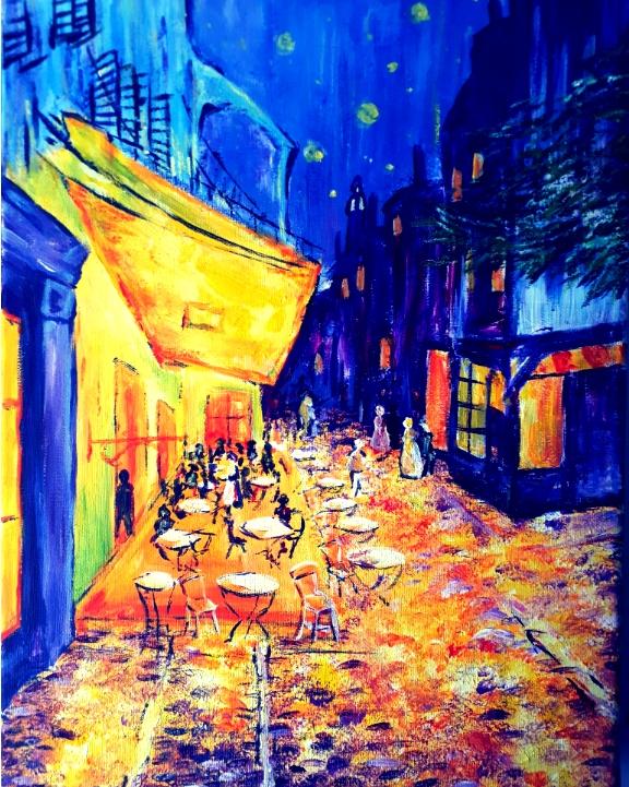 Paint like Van Gogh: Café de Paris