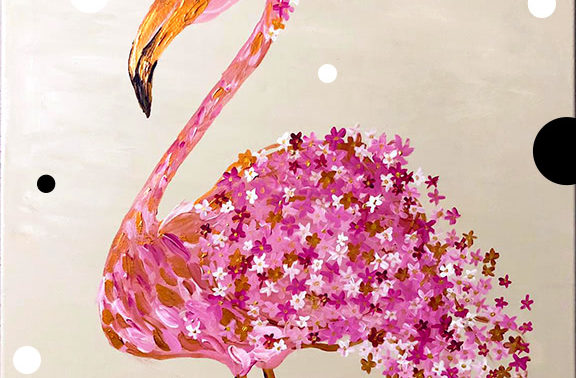 Virágos flamingó