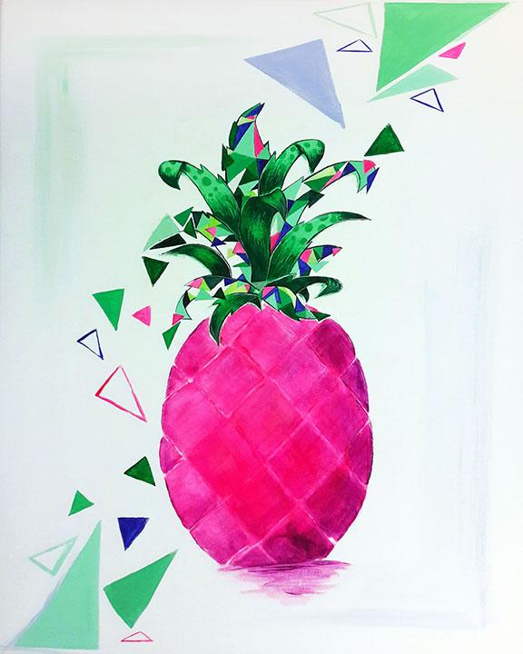 Pink ananász