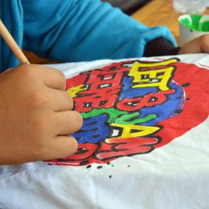 Kreatív hét 5. nap – Pólótervezés és festés