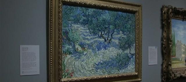 Van Gogh Olajfák című festménye.