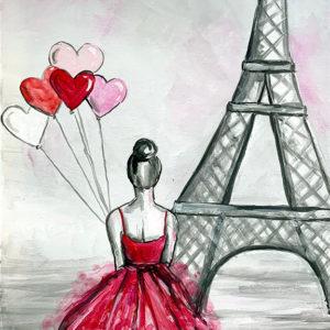 Anya-gyermek páros festés: Romantika Párizsban
