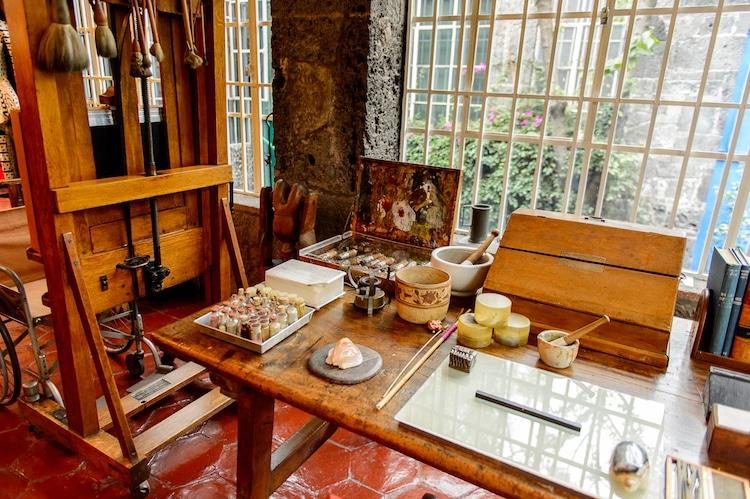 Frida Kahlo műterem.
