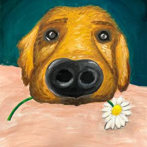Anya-gyermek páros festés: Charly, a jó kutya