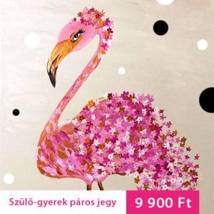 Virágos flamingó – Szülő-gyerek élményfestés